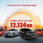 Honda Việt Nam bán ôtô nhiều kỷ lục trong 2017